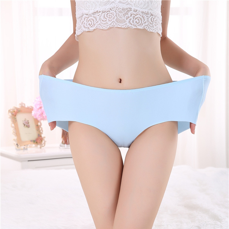 Seamless Women's   Panties   ice briefs silk Cool and Intimates underwear triangle plus size 7XL female briefs