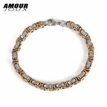 Amourjoux оплетка белый/золотой цвет цепь для мотоцикла браслет
