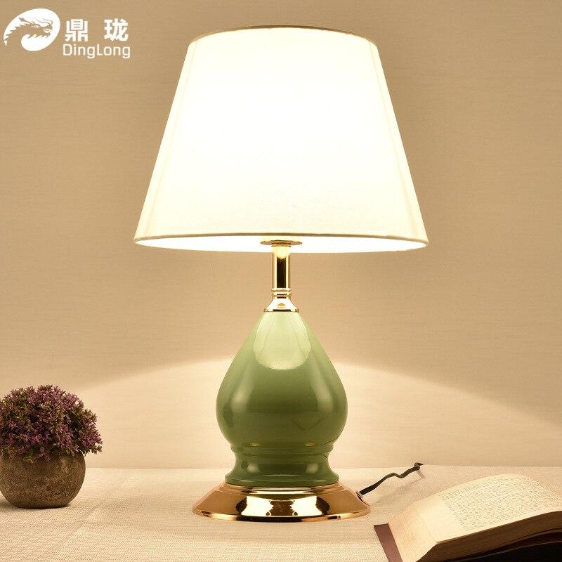 TUDA ücretsiz kargo çok renkli isteğe bağlı amerikan Country tarzı seramik masa lambası dekoratif masa yatak odası için lamba fuaye lambası
