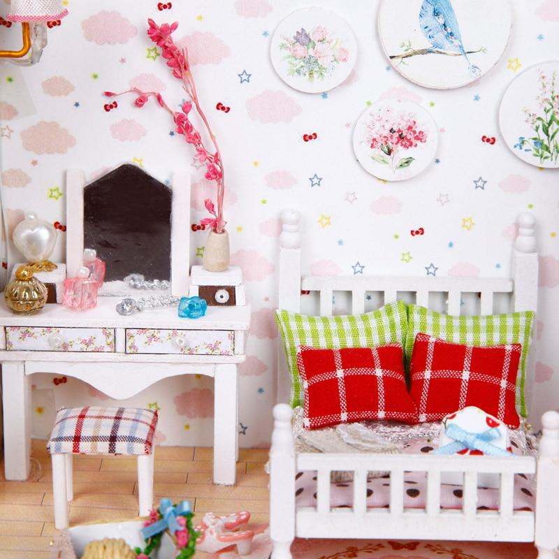 Muñeca de madera muebles de casa DIY casa de muñecas Kit de - Muñecas y peluches - foto 6