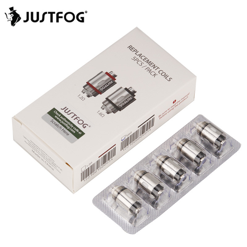 50pcs lot JUSTFOG Vape Kit Atomizer Coil Head 1 2ohm 1 6ohm Replacement Coil for Q16