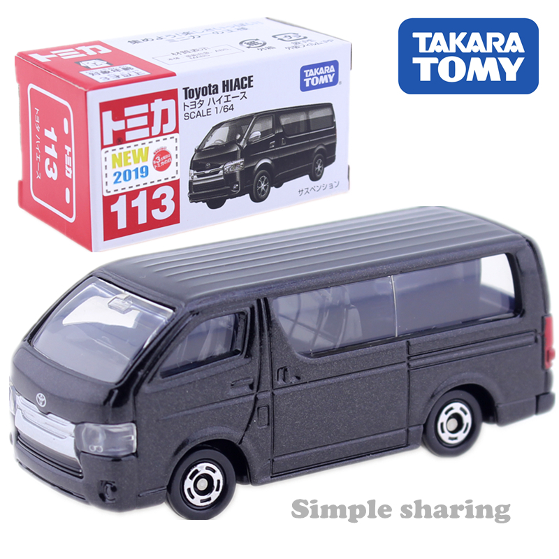 TAKARA TOMY TOMICA No.113 TOYOTA HIACE Scale 1:64 DieCast Toy Car Model Kit Hot Pop Magic Baby Toys For Children Collectibles