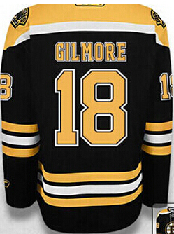 56db6b904 Happy Gilmore jersey Boston Bruins  18 Happy Gilmore home black Dark ice  Hockey Jersey size S small 44 to 4xl 58