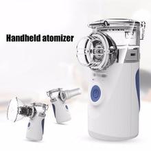 Портативный ультразвуковой небулайзер, мини ручной Ингалятор, респиратор, увлажнитель, комплект, уход за здоровьем, детский домашний Ингалятор, машина, распылитель