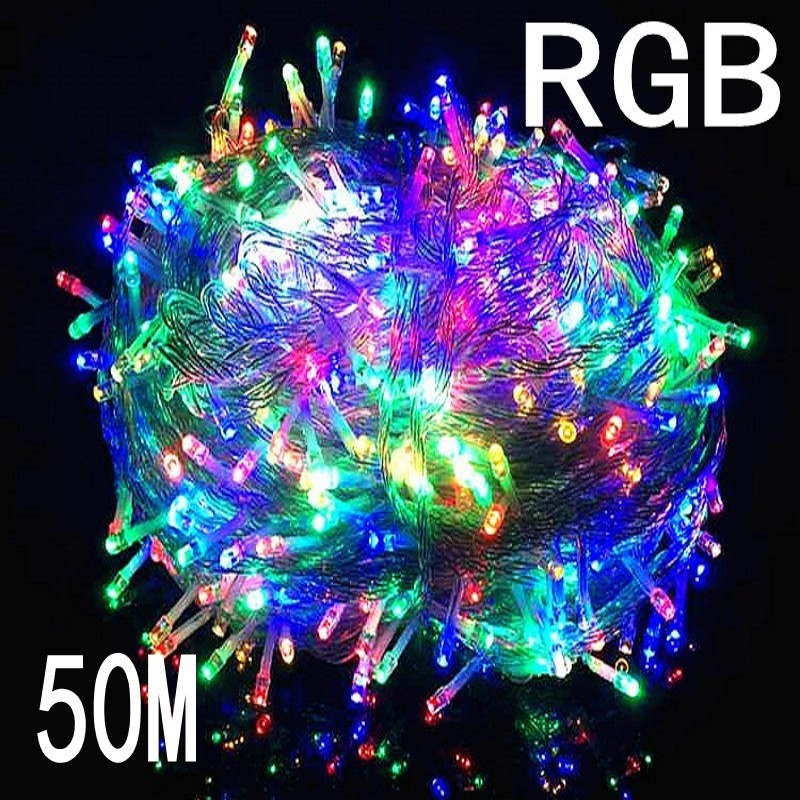 NEW RGB Color String Light 50M 400 LED holiday/ Christmas/Wedding/Party Decoration Lights 220V outdoor Waterproof led lamp