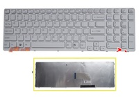 SSEA New laptop US Keyboard for SONY VAIO SVE15 SVE-15 White