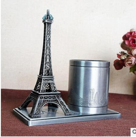statue Roman Electroplating metal crafts Eiffels Tower memorial tower penholder in France ways room world