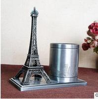 statue Roman Electroplating metal crafts Eiffels Tower memorial tower penholder in France ways room world
