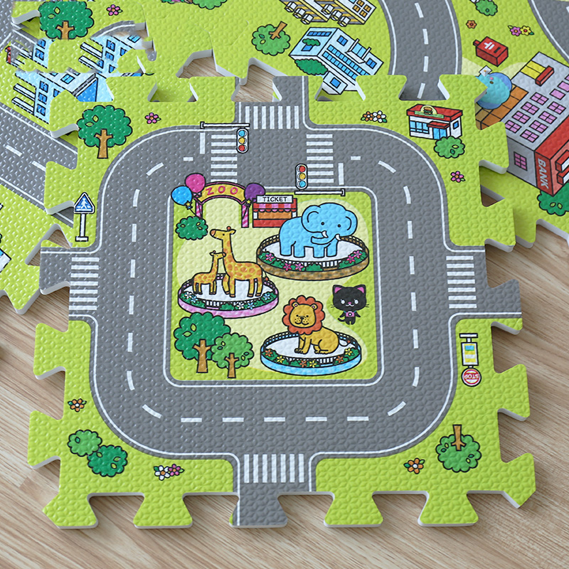 2017-New-9pcs-Baby-EVA-foam-puzzle-play-floor-matEducation-and-interlocking-tiles-and-traffic-route-ground-pad-no-edge-4