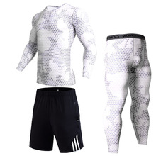 спортивный костюм Winter New Sports Underwear Теплый компрессионный костюм спортивный костюм Камуфля