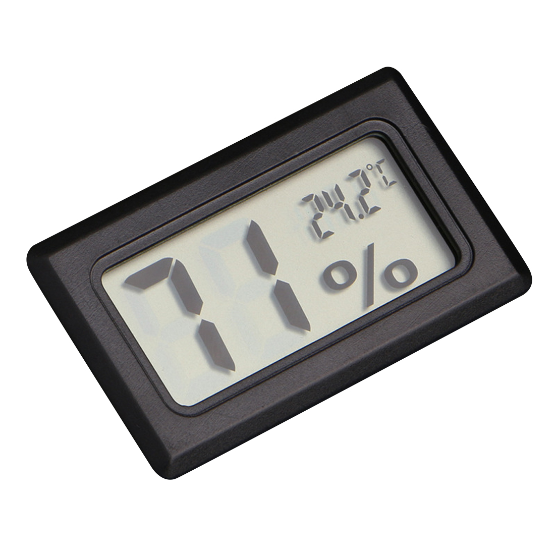 Mini Black Digital LCD Temperature Humidity Indoor Room Humidity Meter Thermometer Hygrometer Temperature Sensor Humidity