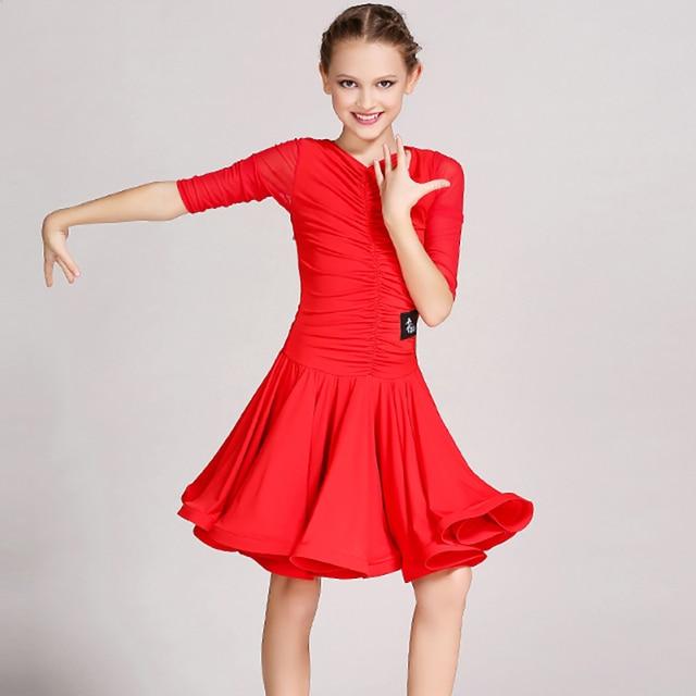 d9ec2bce3 Nice Quality Latin Dance Dresses For Girls Lace Skirts Pretty Children Cha  Cha/ Dance Girl Dresses Dance Dress Standard Girl