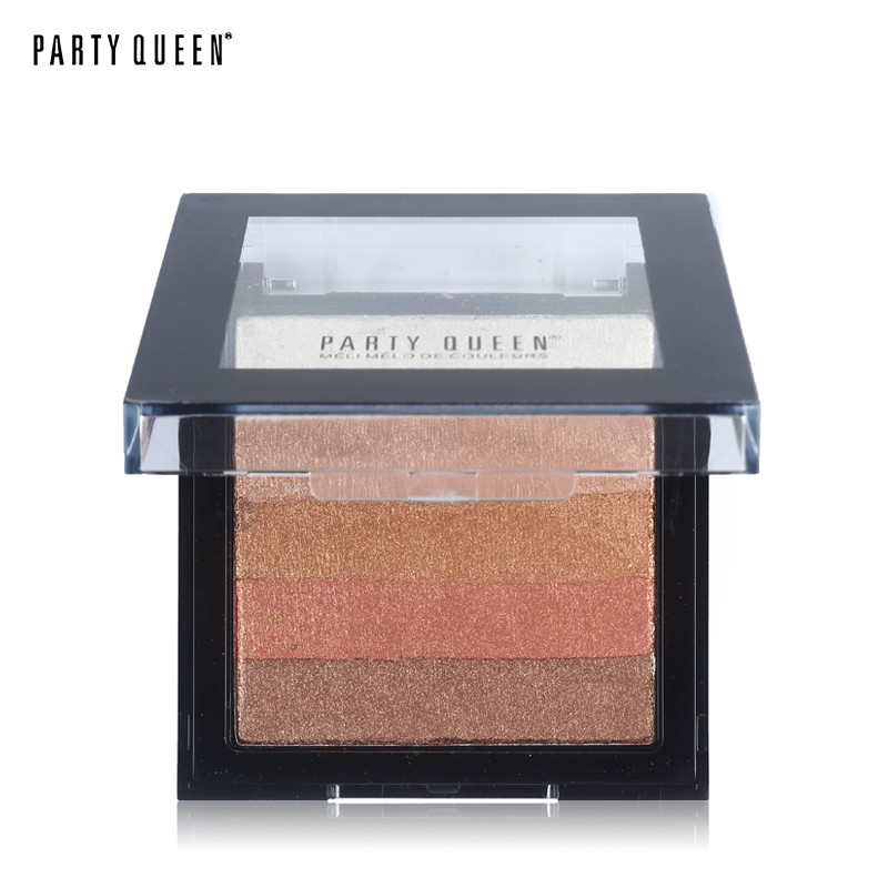 Bronzer Powder Blush and Highlighter Makeup Party Queen Pro Eye shadow Palette set Tanning Powder #01 10