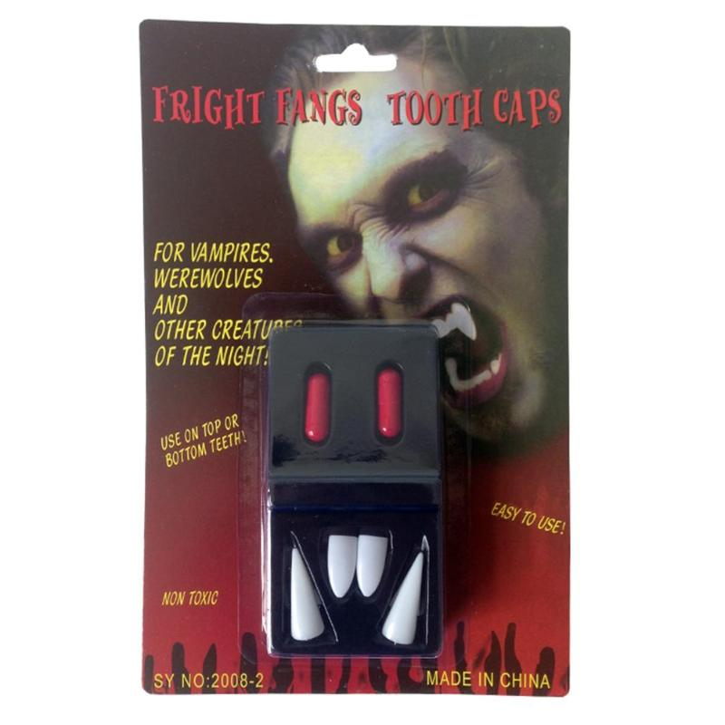 Horrific Vampire Fake Teeth Devil Zombie Dentures Toys Prank Props Holiday Festive Party Supplies Decoration Fun Funny Gadgets