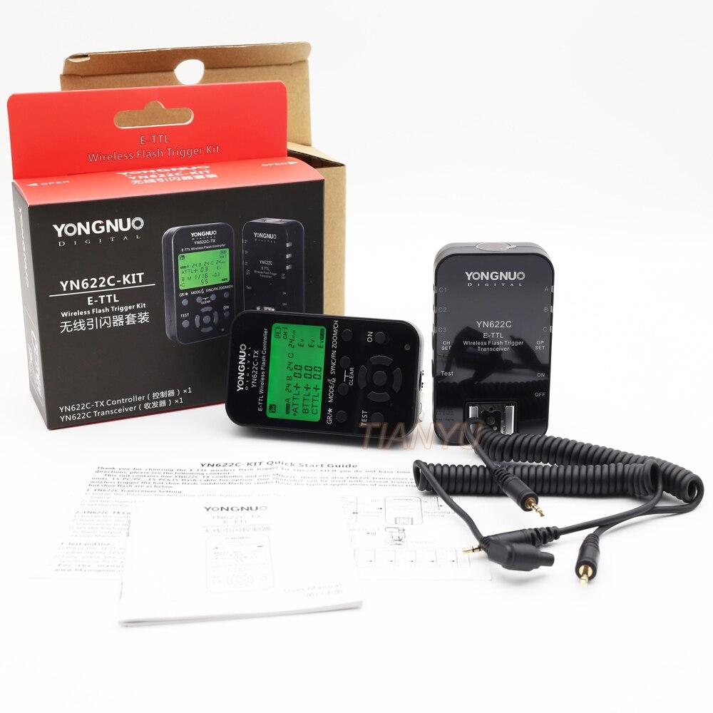 Yn Yongnuo YN622C + YN-622C-TX KIT Wireless TTL HSS Flash Trigger for Canon 1200D 1100D 1000D 800D 750D 650D 600D 550D 500D 5DII