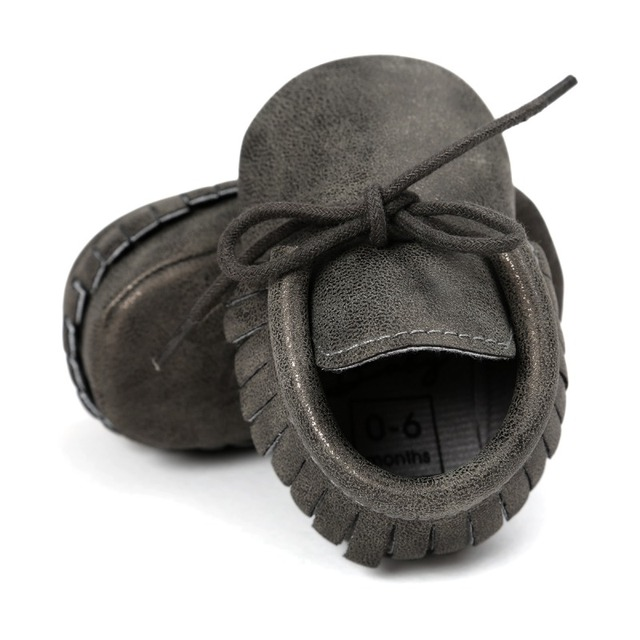 Baby's Cute Plain Laced-Up Shoes