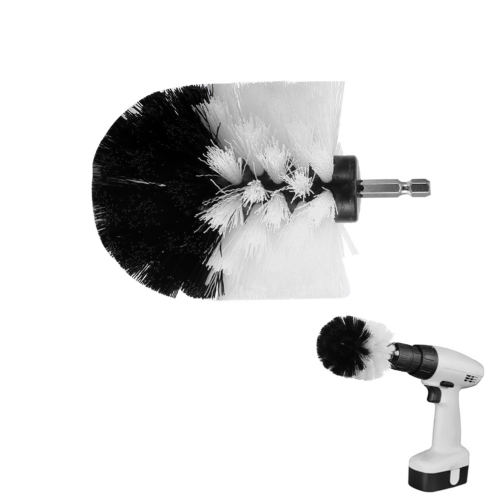 3.5 inch Drill Cleaning Brush Round Head Power Scrubber Stiff Bit ...