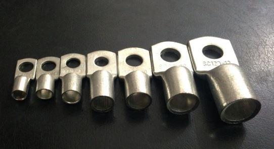 10 adet/paket SC95 10 95mm2 10mm Cıvata Delik Kalaylı Bakır Kablo pabuçları akü kutup başları Yepyeni Kaynak Lug M10