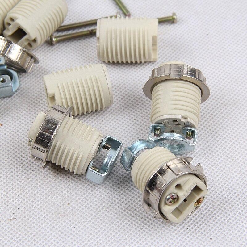 G9 Lamp Socket Ceramic G9 Lamp Holder 110-240V Ceramic Socket G9 Type Halogen Lamp Holder Lighting Accessories