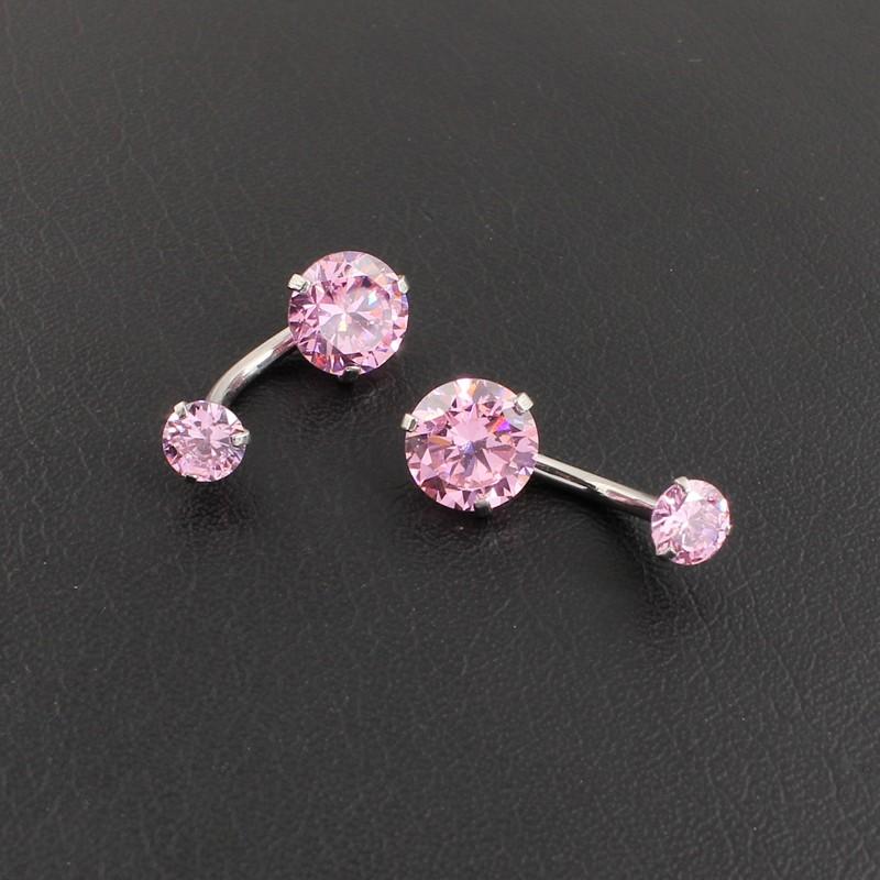 HTB1iFgkOFXXXXb5XXXXq6xXFXXXD Pretty Zircon Jewel Prong Style Belly Button Ring - 2 Colors