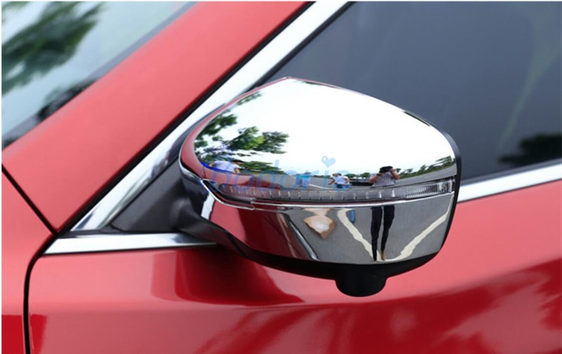 Chrome Car Styling Door Mirror Cover Rear View Overlay Panel Frame Kit Trim 2015 2016 2017 2018 For Nissan Murano Accessories in Chromium Styling from Automobiles Motorcycles