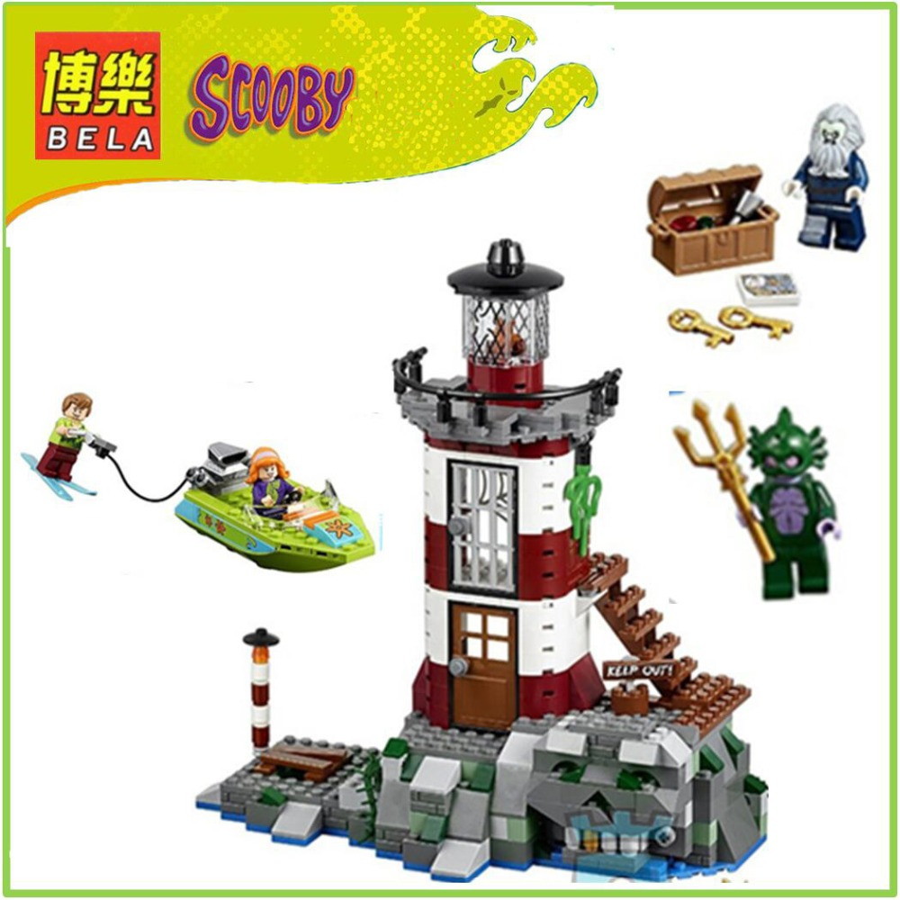 10431 Compatible Scooby Doo Haunted Lighthouse 75903 Building Block Figure Model Educational Toys For Children bela scooby doo haunted lighthouse building block model kits scooby doo marvel toys compatible legoe