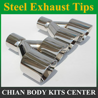1Pair 63mm Inlet 89mm Outlet Stainless Steel Car Exhaust Tip universal Exhaust Muffler Dual Tips for any cars