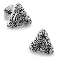 SPARTA White Gold Electroplated Triangle metal Cufflinks men's Cuff Links + Free Shipping !!! metal buttons