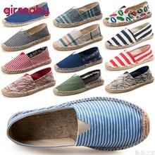 Nueva llegada Girseaby zapatos de barco planos negros Retro Vintage alpargatas para mujer Unisex tamaño más grande transpirable T189f