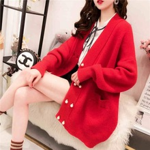 long sleeve knitted front open female korean style beaded sweater women cardigan plus size knit womens clothing fall winter 2019 plus size lace crochet long open front cardigan