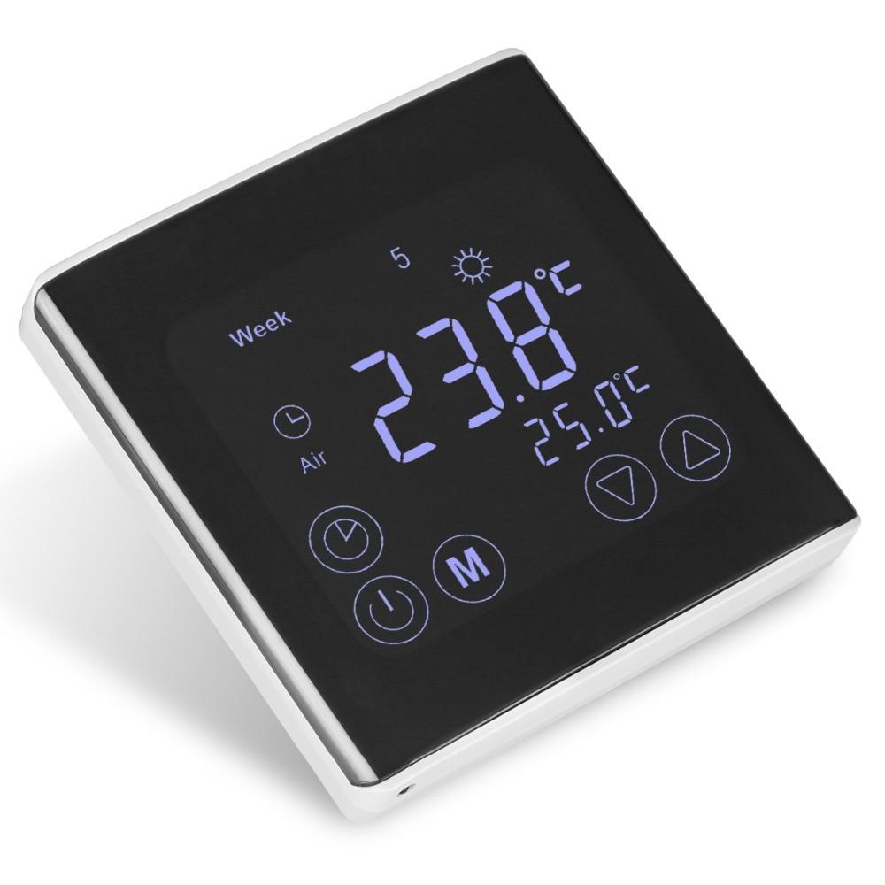BYC17GH3 LCD Tela de Toque Radiante Sala de Aquecimento Termostato Programável Semanal Termorregulador Controlador de Temperatura
