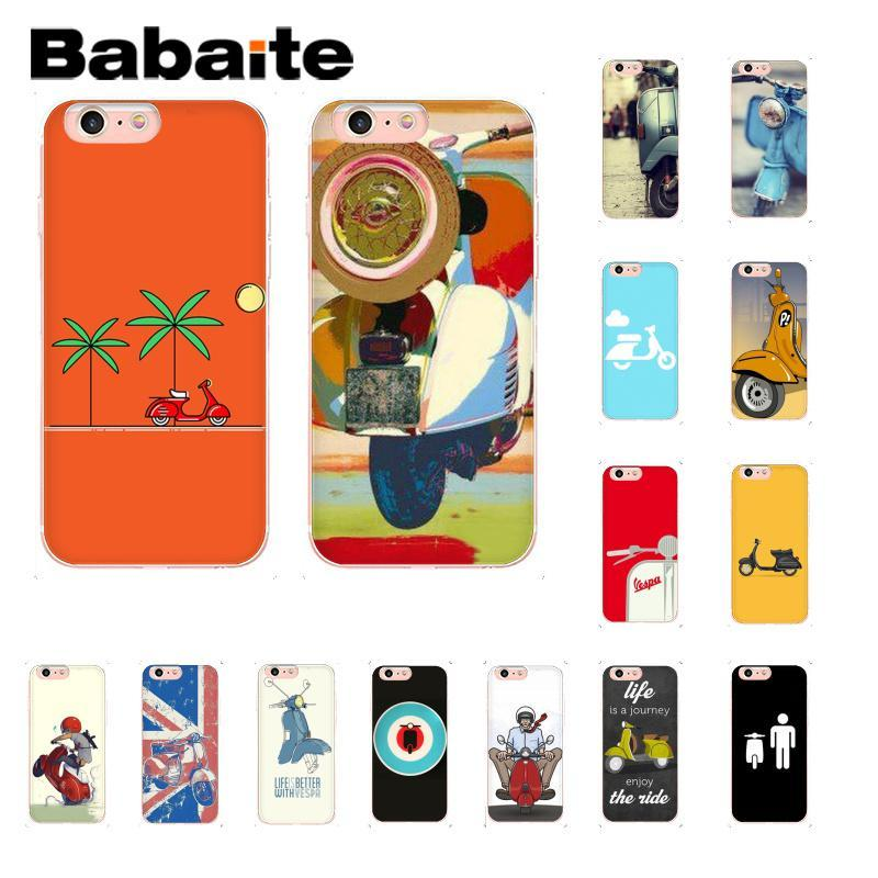 Babaite Vespa Scooter Soft Silicone Coque Shell Phone Case for iPhone 8 7 6 6S Plus 960x960