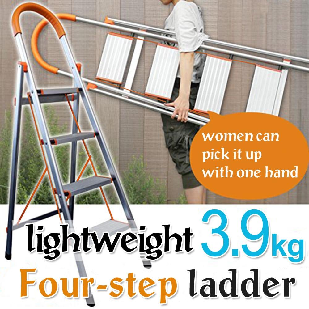 Astonishing Us 129 65 3 4 5 Step Ladder Folding Stool Stepladder Non Slip Heavy Duty Aluminum Load Capacity Home Office Garage Dq9072 1 2 3 In Stools Machost Co Dining Chair Design Ideas Machostcouk