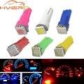 10X T5 5050 1SMD Клин Led панели Белый красные, синие зеленого, желтого, розового цвета авто светильник Интерьер лампочка лампы AC/DC 12V - фото