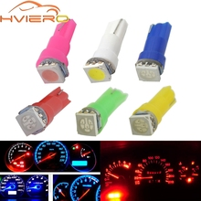 10X T5 5050 1SMD Instrument Lights Dashboard Warning Indicator White Red Blue Green Pink Car Auto Light Interior Bulb Side Lamp