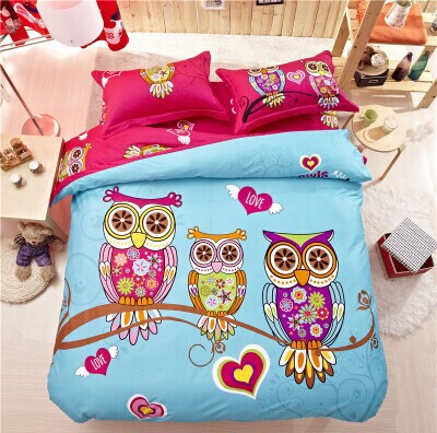 Owl Children Paternity Kit Bed Set Full Size Bedding Sets ...