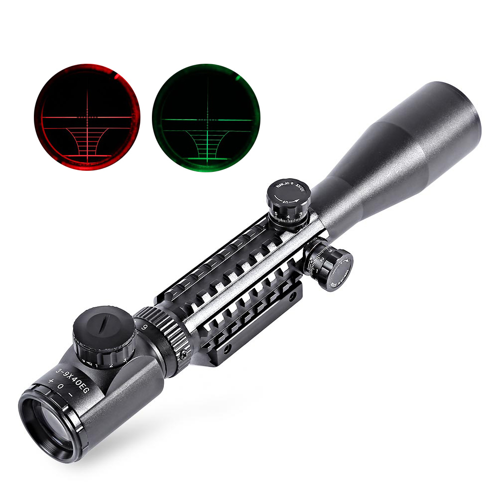 3-9X40 Hunting Optical Sight With 20mm Dovetail Picatinny Rail Scope Cover For Tactical Rifle Gun Airsoft Riflescope Sinper tactical 2x28 rifle scope green optical fiber dot sight riflescope hunting shooting for 20mm weaver picatinny rail mount
