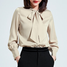 2019 Hot Sale Spring Women Shirts Tops Long Sleeve Bow Collar Solid Ladies Chiffon Blouse Tops OL Office Style Chemise Femme 2019 hot sale spring women shirts tops long sleeve bow collar solid ladies chiffon blouse tops ol office style chemise femme