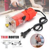 300W 220V Electric Wood Power Trim Router 30000RPM 6mm 1 4 Bit Woodworking Edge Banding Molding