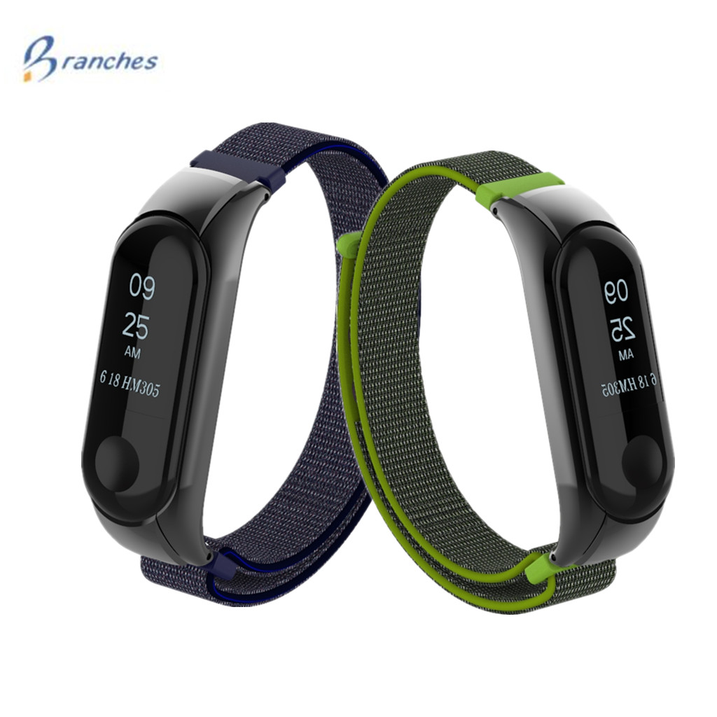 все цены на Branches Mi Band 3 Strap for Xiaomi mi band 3 bracelet Silicone nylon Wristband Smart Band Accessories wrist Strap and Mi Band3 онлайн