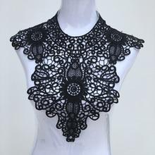 Lace Collar Beautiful Flower and Heart Venise Applique Trim Fabric Sewing Supplies Neckline 6 pcs/lot