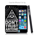 Do not trust anyone Hard Black Case Cover Shell Coque for iPhone 4 4s 4g 5 5s 5g 5c 6 6g 6 Plus