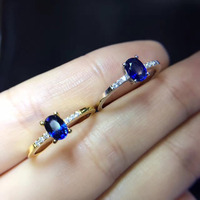 2017 кольца Qi Xuan_Blue камень элегантная женская обувь в простом стиле Ring_S925 чистого серебра с модным голубым камнем Rings_Manufacturer прямые продажи