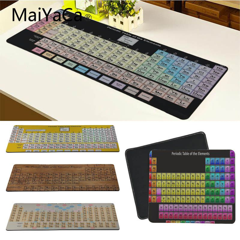 MaiYaCa New Design Periodic Table Of The Elements Large Mouse Pad PC Computer Mat Good Quality Locking Edge Large Game Mouse Pad