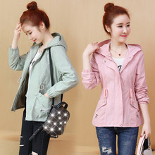 2019 Spring Autumn New Trench Coat Women Korean Fashion Loose Ladies Casual Wind