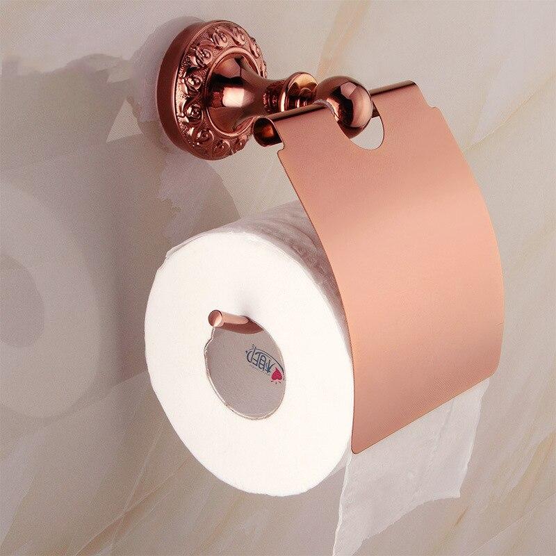 Billige Kaufen Rose Gold Wc Papier Halter Badezimmer Zubehör Set ...
