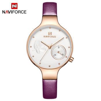 NAVIFORCE Women's Watches 2019 Fashion Ladies Watches For Women Bracelet Clock Dress Wristwatch Luxury Relogio Feminino Saati