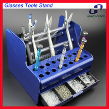 TS4001 Plastic Glazen Gereedschap Stand Schroevendraaier Tangen Stand Rack Houder Schroeven Neus Pads Case Box Voor Optische Reparatie Tools