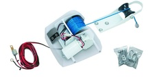 Marine Boat Yacht Pontoon Sail Boat Heavy Duty 12V Electric Anchor Winch Saltwater White 25LBS