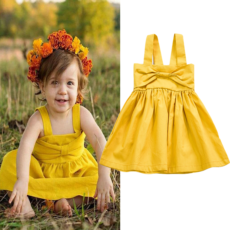 Summer Baby Dress Casual Solid Newborn Baby Girl Clothes Sleeveless A-line Baby Kids Dress 1 Year Birthday Party Dress